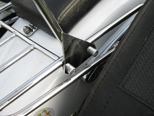 Спинки пасажирські з багажником на мотоцикл Yamaha Drag Star XVS 400, 650 А