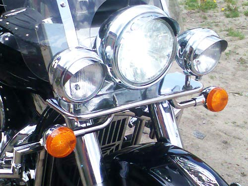 Support for additional headlights for Kawasaki Vulcan VN1600