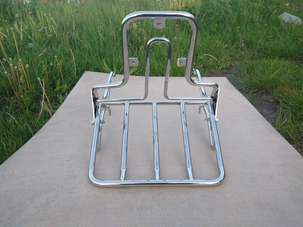 Sissy Bar Backrest Back Rest with luggage rack for Yamaha Drag Star XVS 400, 650A Classic