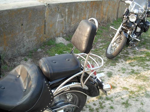 Спинки с багажником на мотоцикл Honda Shadow ACE 400-750 (1998-2003г.)
