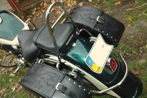 Спинки пасажирські з підставками (рамками) для кофрів на мотоцикл Honda Shadow ACE 400-750 (1998-2003р.)
