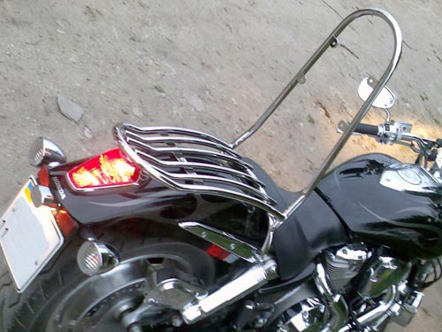 Sissy Bar Backrest Back Rest with luggage rack for Honda VTX 1800S
