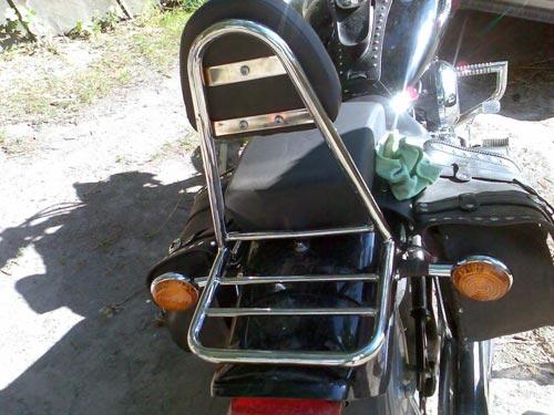 Спинки с багажником на мотоцикл Yamaha Drag Star XVS 400, 650 А