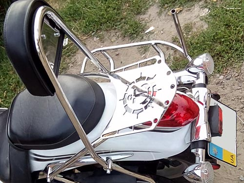Sissy Bar Backrest Back Rest with luggage rack for Yamaha XVS950A Midnight Star (2013year)
