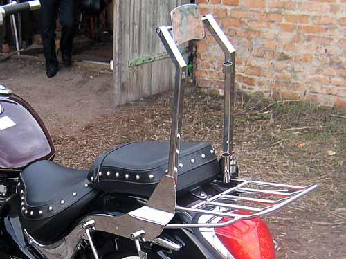 Спинки с багажником на мотоцикл Suzuki Bolevard C50t (2012г.)