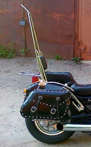 Спинки с багажником на мотоцикл Suzuki Intruder VS400 (1994-2003г.)